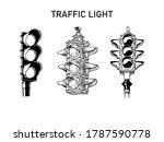 traffic light semaphore hand...   Shutterstock .eps vector #1787590778