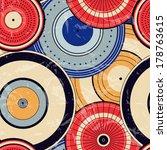 japanese autumn seamless circle ... | Shutterstock .eps vector #178763615