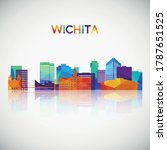 wichita skyline silhouette in...   Shutterstock .eps vector #1787651525