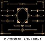 set  of ornaments in art deco... | Shutterstock .eps vector #1787658575