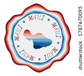 maui badge. map of the island... | Shutterstock .eps vector #1787670095
