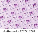 a pattern of business cards...