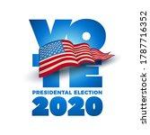 vote 2020 in usa. typographic... | Shutterstock .eps vector #1787716352