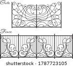 original art forging from metal ... | Shutterstock .eps vector #1787723105