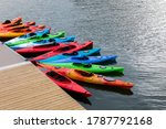Kayaks Park At Boston Harbor I...
