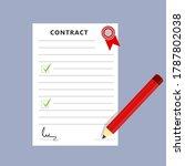 contract pencil  signature... | Shutterstock .eps vector #1787802038