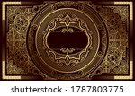 golden ornate decorative... | Shutterstock .eps vector #1787803775