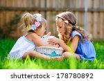 group of two little girl with a ...   Shutterstock . vector #178780892