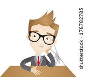 vector illustration of a bored... | Shutterstock .eps vector #178782785