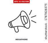 loudspeaker vector icon for... | Shutterstock .eps vector #1787828375