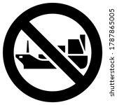 no tanker or cargo ship... | Shutterstock .eps vector #1787865005