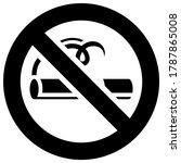 prohibition sign  black... | Shutterstock .eps vector #1787865008
