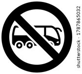 no bus forbidden sign  modern... | Shutterstock .eps vector #1787865032