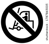 no loader forbidden sign ... | Shutterstock .eps vector #1787865035