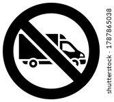 no truck or no parking... | Shutterstock .eps vector #1787865038