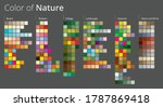 harmonic color palettes in... | Shutterstock .eps vector #1787869418