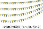 silver gold paper bunting party ... | Shutterstock .eps vector #1787874812