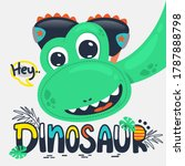 cute dinosaur wearing... | Shutterstock .eps vector #1787888798