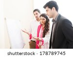team of confident business... | Shutterstock . vector #178789745