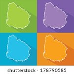 colorful map silhouette with... | Shutterstock .eps vector #178790585