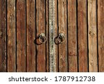 Fragment Of A Wooden Gate With...