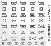 laundry icons set | Shutterstock .eps vector #178792148