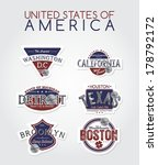 united states of america emblem | Shutterstock .eps vector #178792172