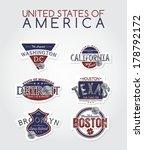 united states of america emblem   Shutterstock .eps vector #178792172