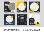 set of editable minimal square... | Shutterstock .eps vector #1787923625
