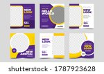 set of editable square banner... | Shutterstock .eps vector #1787923628