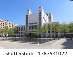 Small photo of Villeurbanne, France - 05 01 2019 : The facade of the TNP, popular national theater in the Gratte Ciel district of Villeurbanne, place Lazare Goujon, town of Villeurbanne, department of Rhone, France
