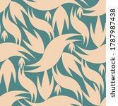 wavy seamless pattern design... | Shutterstock . vector #1787987438