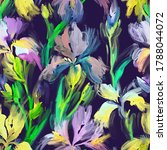 hand drawn watercolor floral... | Shutterstock . vector #1788044072