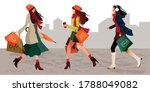 character set of stylish women... | Shutterstock .eps vector #1788049082