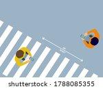 social distancing  people using ... | Shutterstock .eps vector #1788085355