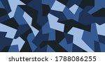 geometric camouflage design in... | Shutterstock .eps vector #1788086255