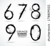 Vector set grunge number - part 2