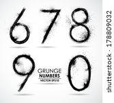 vector set grunge number   part ... | Shutterstock .eps vector #178809032