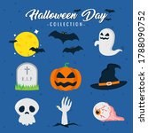 scary and creepy halloween day... | Shutterstock .eps vector #1788090752
