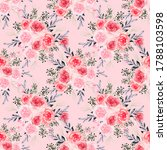 floral seamless pattern with... | Shutterstock . vector #1788103598