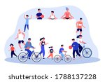 sporty people around blank... | Shutterstock .eps vector #1788137228