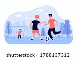 active children playing soccer... | Shutterstock .eps vector #1788137312