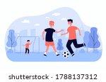active children playing soccer... | Shutterstock .eps vector #1788137312