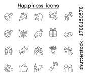 set of happy related vector... | Shutterstock .eps vector #1788150578