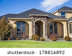 suburban house on a beautiful... | Shutterstock . vector #178816892