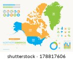 northern american infograph | Shutterstock .eps vector #178817606