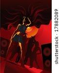 disco girl | Shutterstock .eps vector #17882089