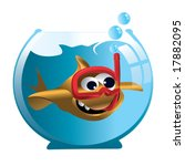 cartoon goldfish in aquarium | Shutterstock .eps vector #17882095
