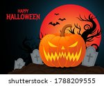 happy halloween with carved... | Shutterstock .eps vector #1788209555