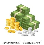 vector banknote money  gold... | Shutterstock .eps vector #1788212795